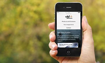 Konzeption und Web Design der Website vhf defence